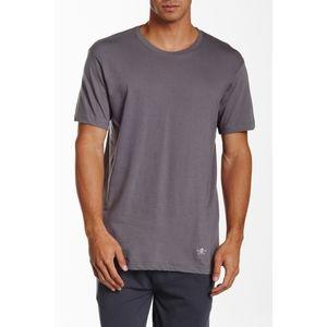 Mens Lucky Brand black label dark grey tee shirt